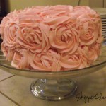 Pink Rose Chocolate Cake