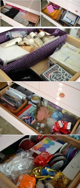 Pink Dresser Project Organization