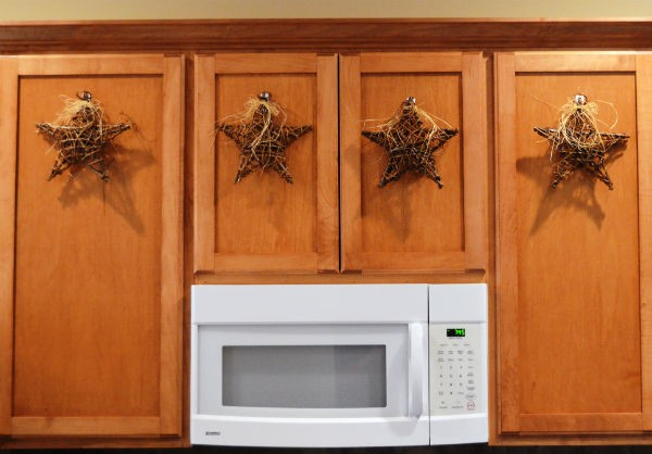 Simple Christmas Decor Cabinets