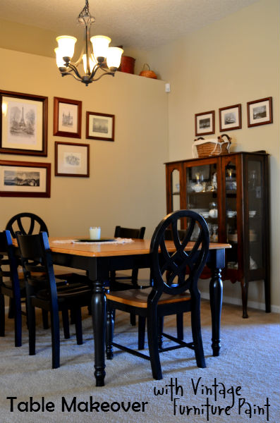 Table Makeover with Vintage Furniture Paint