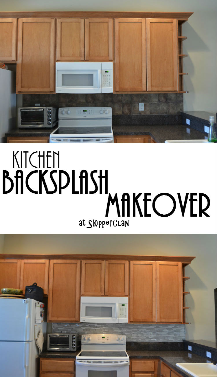 Kitchen Backsplash Makeover at SkipperClan